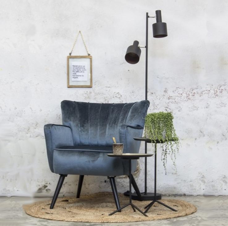 fluweel stoel