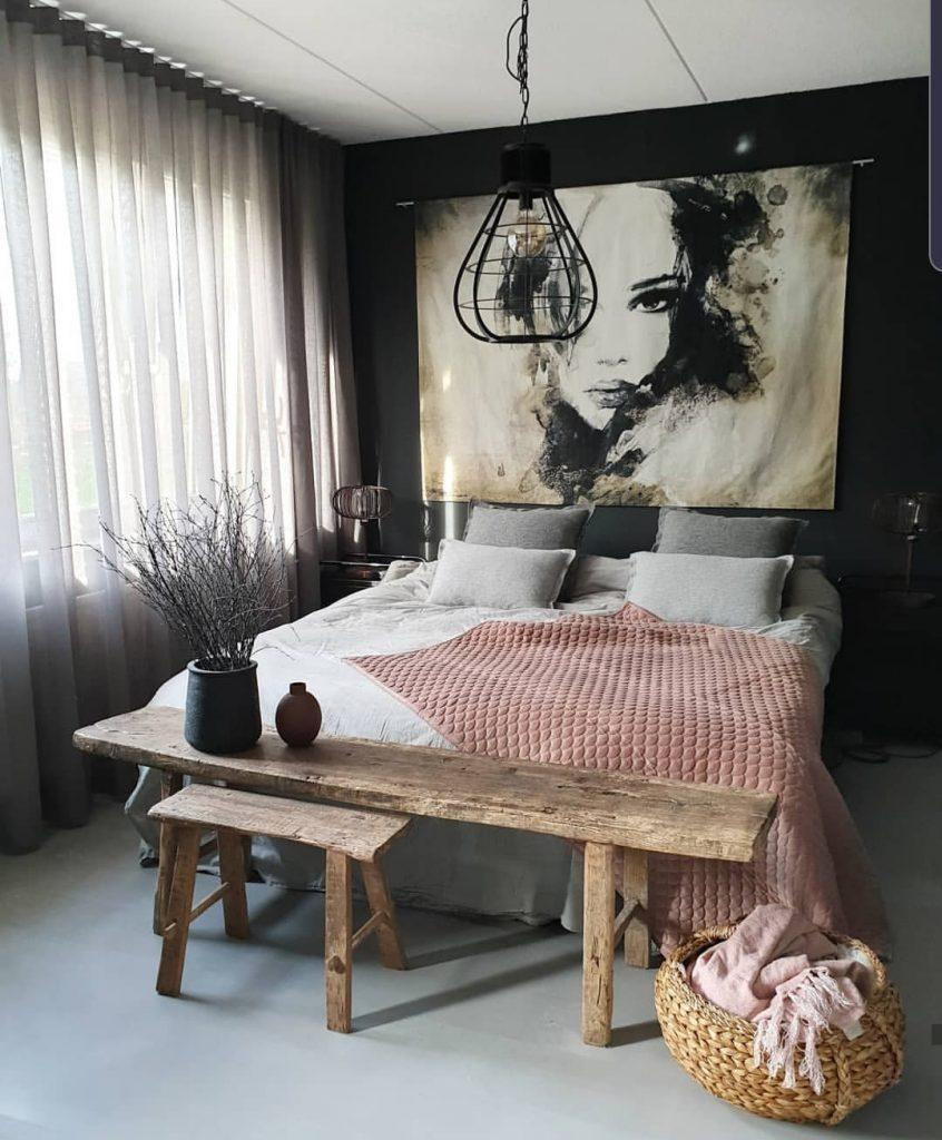 raamdecoratie slaapkamer