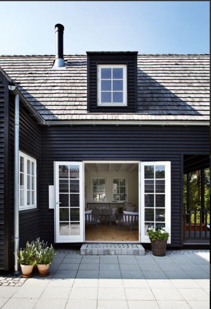 zwart huis