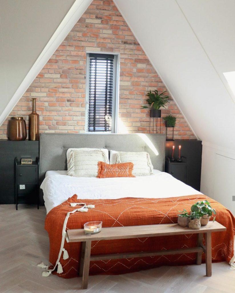 brickwall slaapkamer