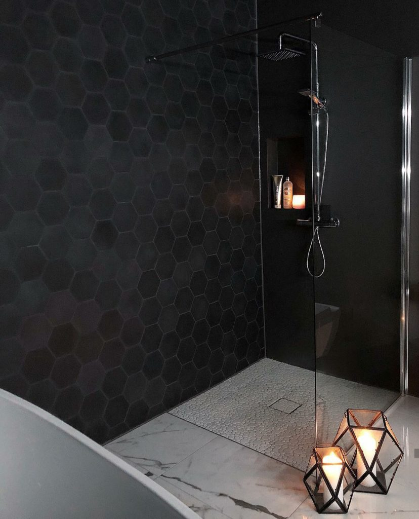 zwarte douche