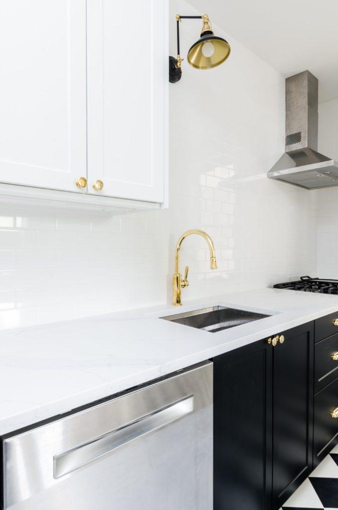 gouden keukenkraan