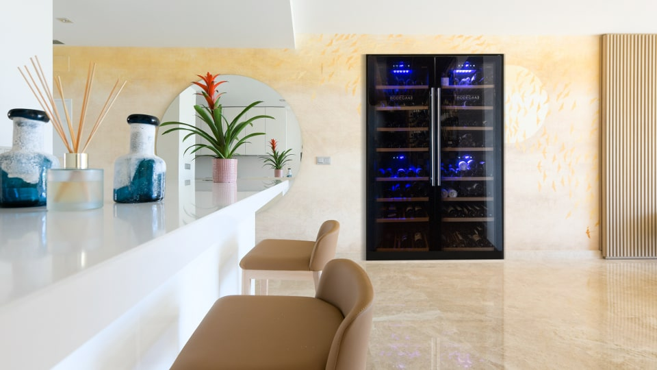 wijnklimaatkast in huis